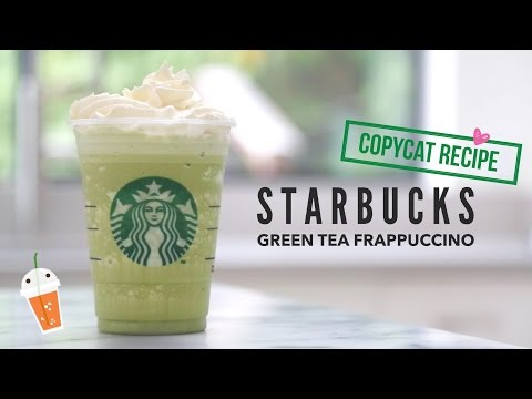 How to Make Starbucks Green Tea Frappuccino |  Copycat Recipe