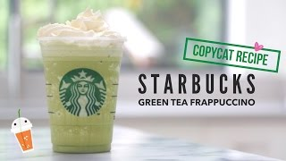 How to Make Starbucks Green Tea Frappuccino   Copycat Recipe