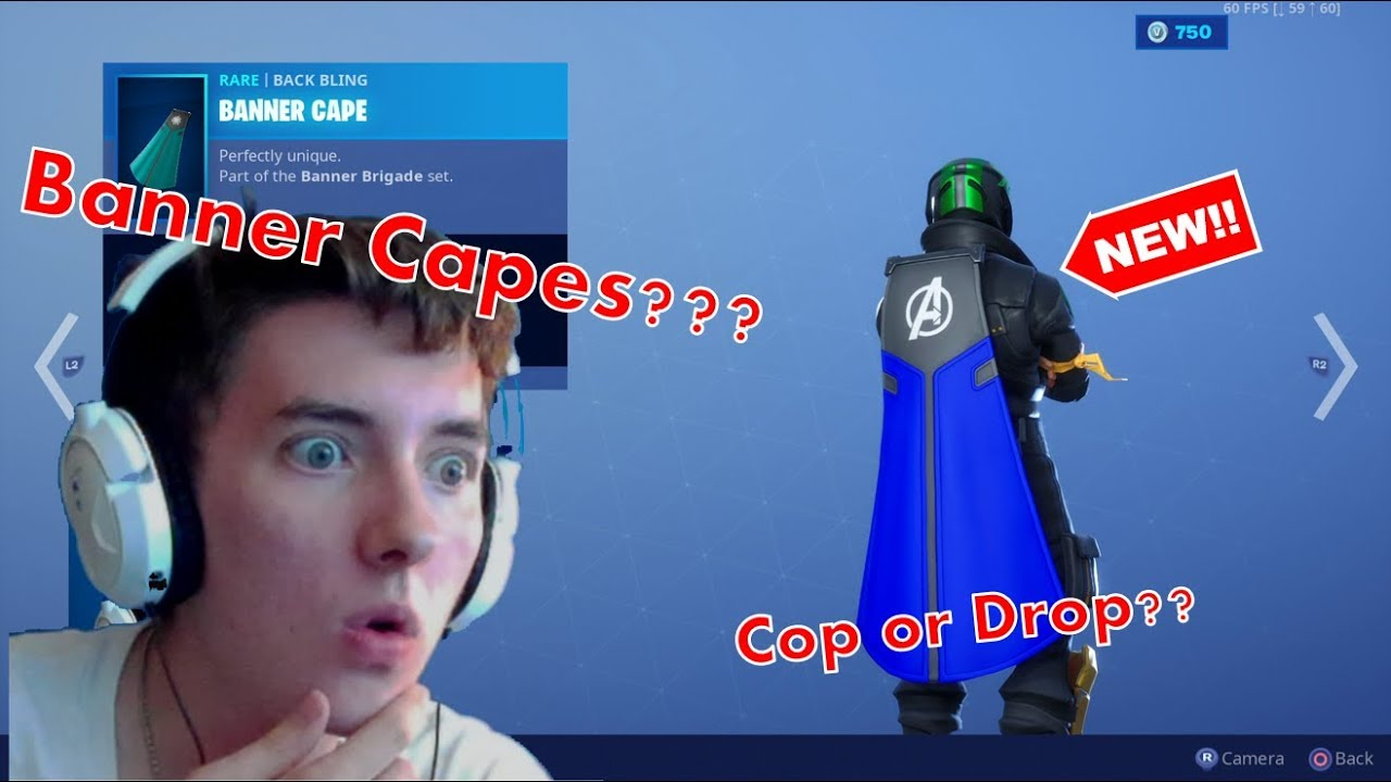 Fortnite Cape *new* wearable banners in fortnite!! the best cape in fortnite!! item shop  7-18-2019