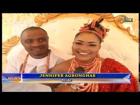 Jennifer Ugiagbe wed Courage Eghosa Agbonghae according to custom