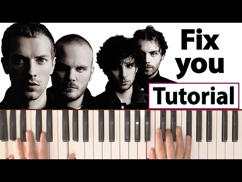 "Como tocar ""Fix you""(Coldplay) - Piano tutorial y partitura"