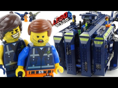 UNBOXING The LEGO Movie 2 The Rexcelsior! 70839 LEGO Speed Build and Review -4K-