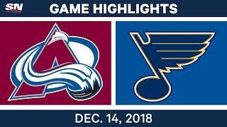 NHL Highlights | Avalanche vs. Blues - Dec 14, 2018