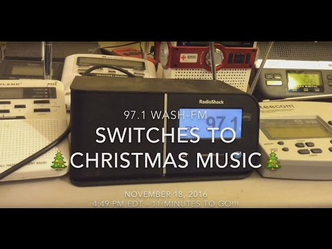 971 WASHFM switches to Christmas music  November 18, 2016