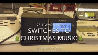 97.1 WASH-FM switches to Christmas music - November 18, 2016