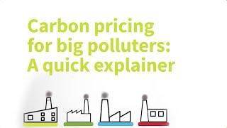Explainer: Carbon pricing for big emitters