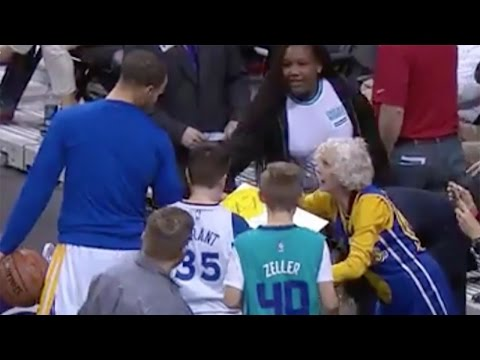 Steph Curry Makes 80-Year-Old Woman's Wildest Dream Come TRUE!