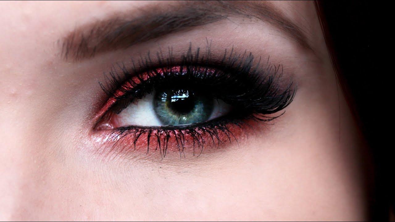 Intense Red Smokey Eye Make Up Tutorial Youtube