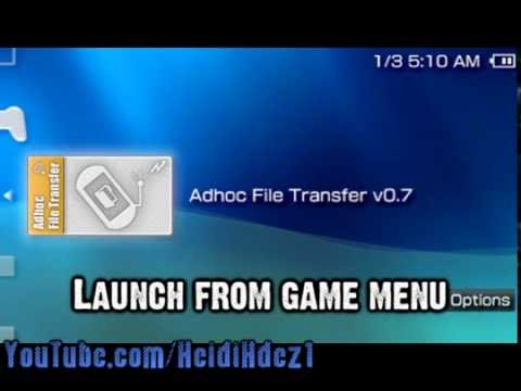 psp wifi adhoc file transfer v0.7
