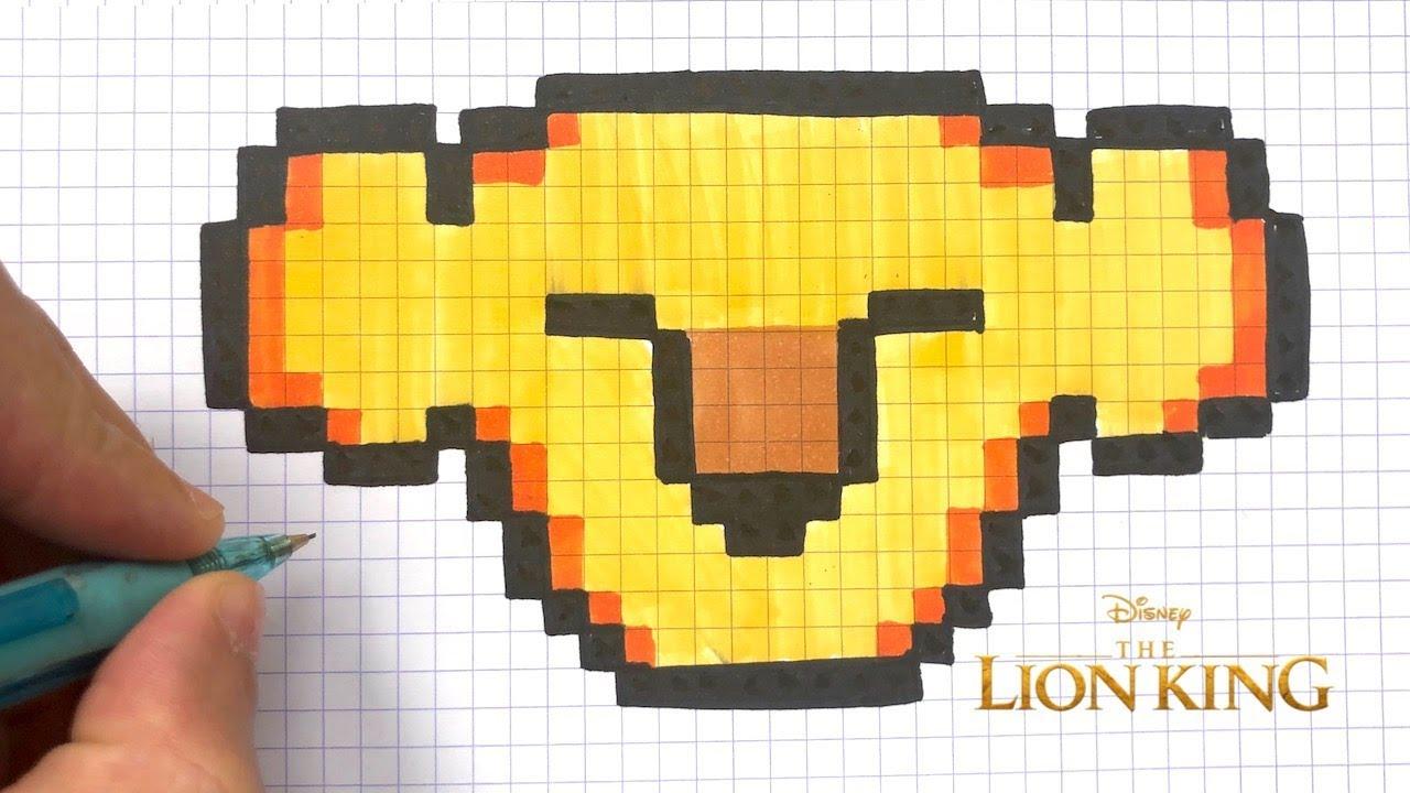 Tuto Pixel Art Simba Le Roi Lion