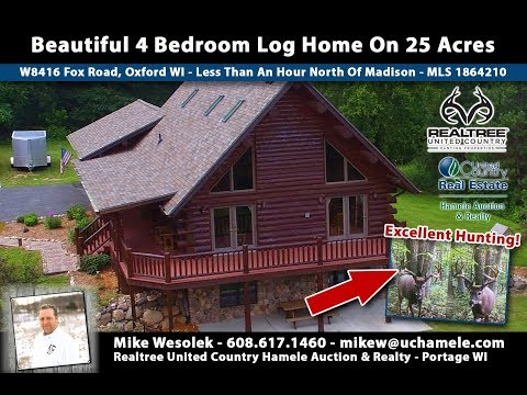 Log Home On Hunting Land For Sale Central WI