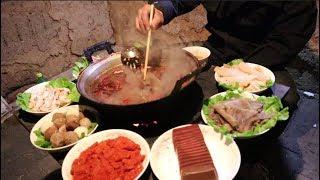 火锅这样做才好吃,一人吃一桌,真得劲!