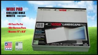 Roaring Spring Landscape Format Writing Pads, Quad Ruled, 11 x 9-1/2