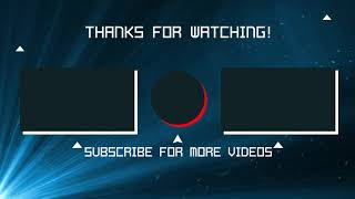 Non-Copyright YouTube Outro - Endscreen Free Download 2021