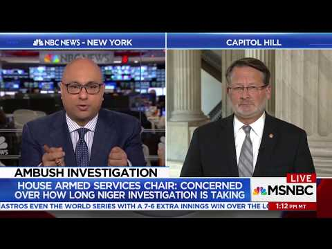 MSNBC: Peters Discuss Niger Investigation with Ali Velshi