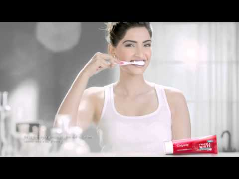 Colgate Visible White Sonam Kapoor 2015 Ad Hindi