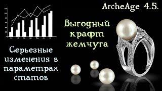 ArcheAge 4.5. Важные изменения в статах. Прибыльный жемчужный крафт. Уточнения по торговле.