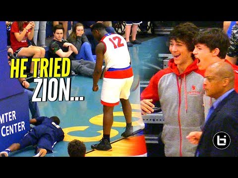 DONT TRY ME! Zion Williamson THROWS Shot Attempt INTO THE STANDS!