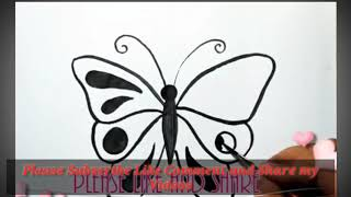 How to draw butterfly for kid, drawing and painting for butterfly for kids