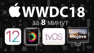 WWDC'18 за 8 минут: iOS 12, tvOS, WatchOS 5 и MacOS Mojave- обзор от Ники