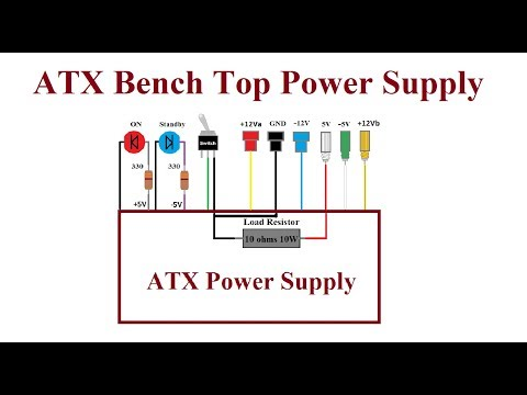 ATX Computer Bench Top Power Supply. - Step by step.