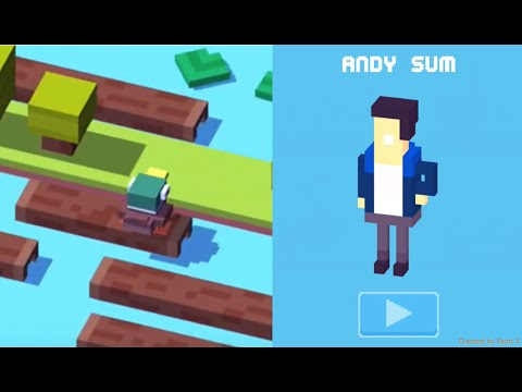 Crossy Road iOS App | How to Unlock Andy Sum Secret Character!