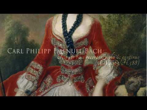 C. Ph. E. Bach - Trio for bass recorder, viola & continuo in F (Wq.163/1; H. 588)