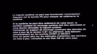 PS3 4.81 mise à jour formatée et réinstaller le logiciel système