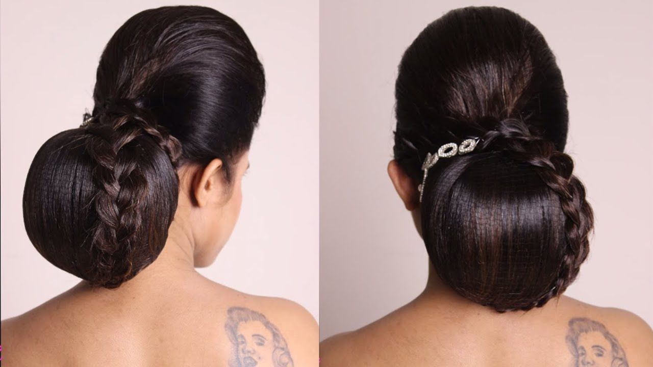 hairstyle low bridal bun - youtube