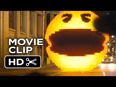 Pixels Movie CLIP - Pac-Man (2015) - Adam Sandler, Peter Dinklage Video Game Action Movie HD