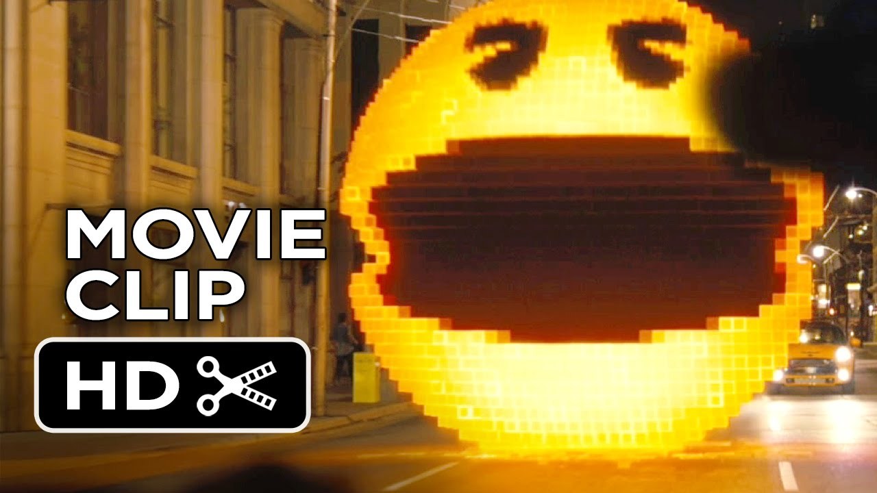 Pixels Movie CLIP Pac Man 2015 Adam Sandler Peter