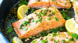 How to Make Garlic Caper Butter Baked Salmon