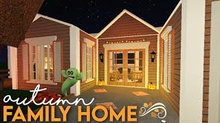 Bloxburg: 🍂 Autumn Family Home 🍂 | Fall House Speed Build🍁 | Halloween Decorations 🎃 | NO GAMEPASS