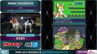 Sonic Colors DS by Diamond in 31:45 and Sonic Riders by Celestics in 16:02 - SGDQ 2016 - Part 84