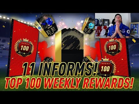 40/40 TOP 100 WEEKLY REWARDS! 11 INFORMS IN AN ULTIMATE TOTW PACK ON FUT CHAMPS!