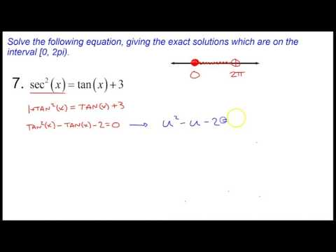 Section 10.7 - Trig Equations and Inequalities, Part 1 - Ex. 6 & 7
