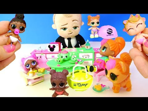 Куклы Лол Сюрприз Мультик! Коллекция Lol Surprise Lil Sisters 3 серия! Барби и Шопкинс