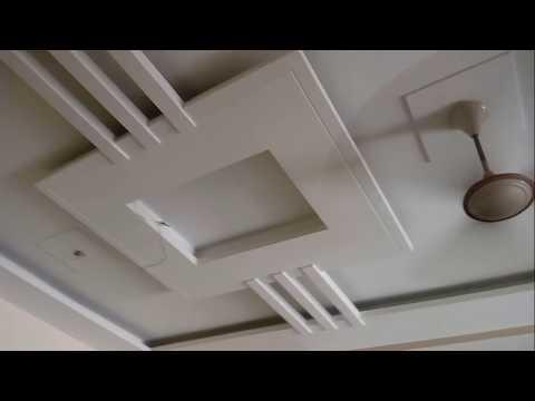 Floating Living Room POP False Ceiling Interior Design
