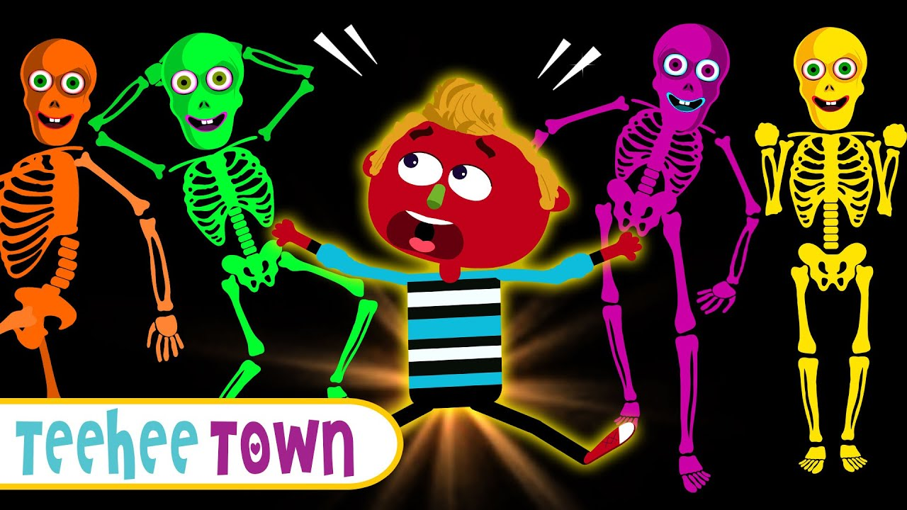 The Spooky Little Skeletons Dance At Midnight   Halloween Songs For Kids By Teehee Town
