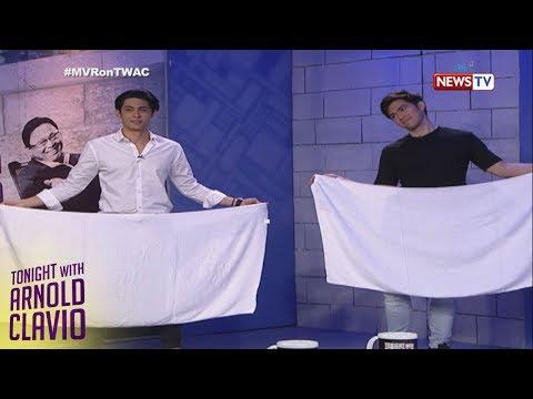 Tonight with Arnold Clavio: Derrick at Kiko, magpapagalingan sa 'Towel Challenge'