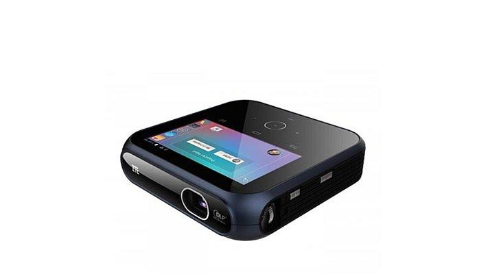 Zte spro portable dlp wifi smart projector youtube for Portable smart projector