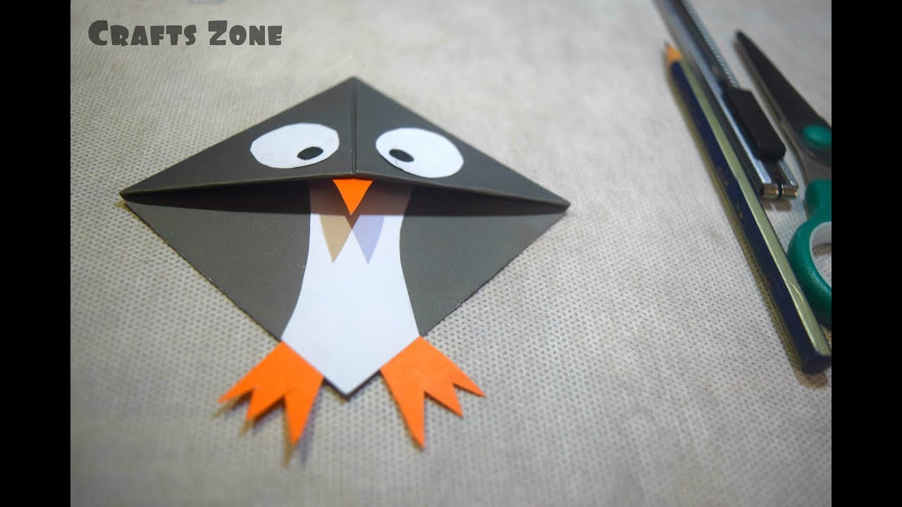 How To Make Penguin Bookmarks Corner DIY Paper