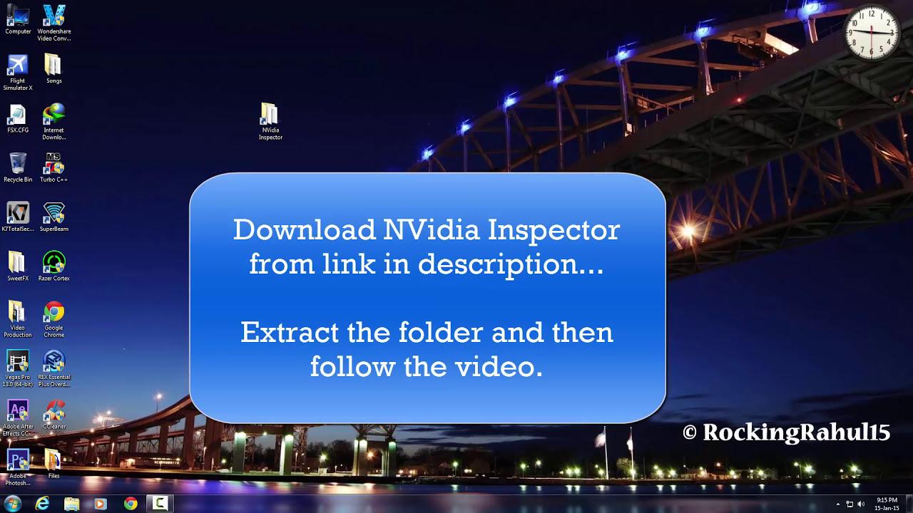 Fsx Tweaks: Nvidia Inspector || More Fps [Hd]  Techinfinity 02:52 HD