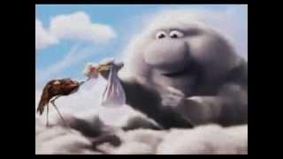 Questo cartone animato spiega il lavoro faticoso della cicogna ( Bellissimo video )