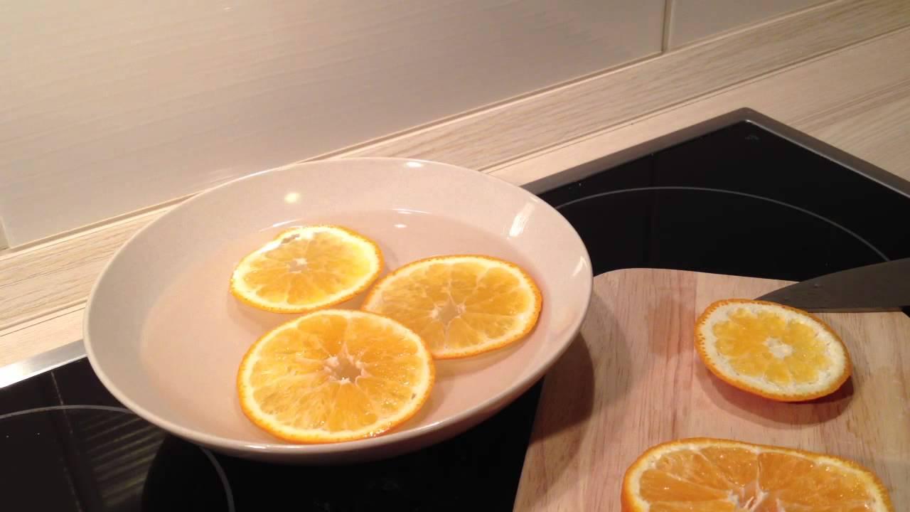 mikrowellenreinigung mit orangen und wasser die. Black Bedroom Furniture Sets. Home Design Ideas