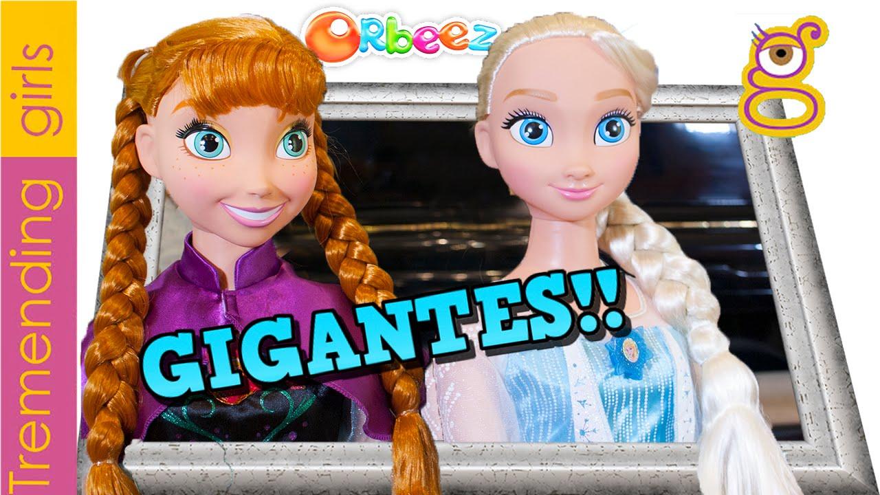 Elsa Y Ana Gigantes En Spa Orbeez Con Olaf Juguetes Frozen En Español Toys Youtube