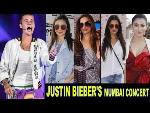 Justin Bieber Concert In India Mumbai 2017 Bollywood Celebs | Alia Bhatt, Malaika Arora Khan