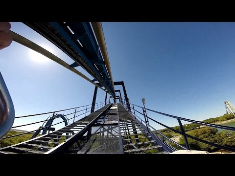 Great White Roller Coaster POV Seaworld San Antonio Texas Front and Back GoPro HD 60fps