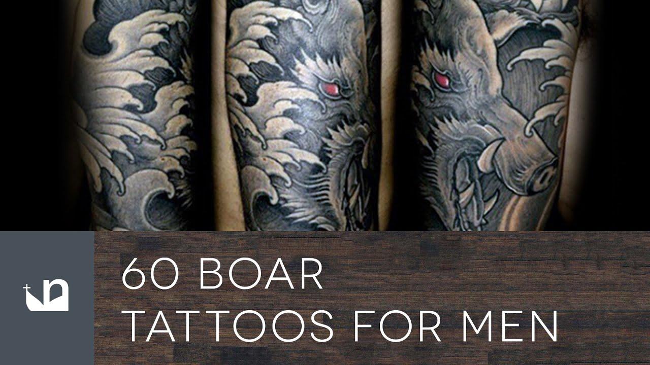 60 boar tattoos for men youtube for Wild zero tattoo