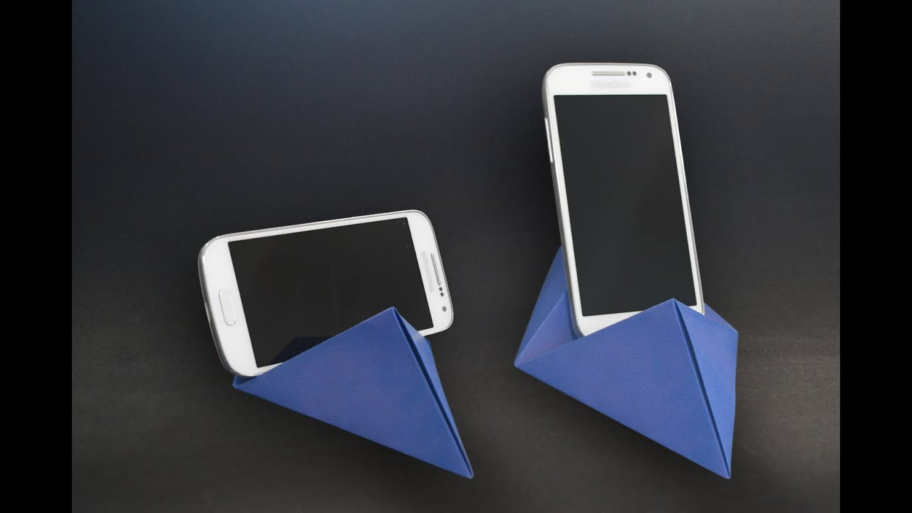 origami origami phone standholder youtube